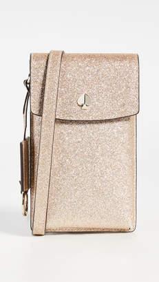 Kate Spade Glitter North South Flap Crossbody Bag