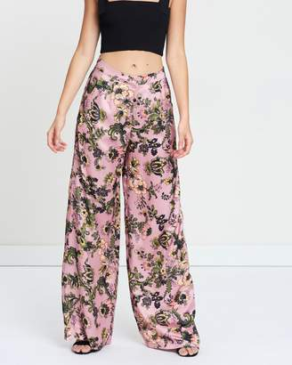 Missguided Wide Leg Floral Trousers