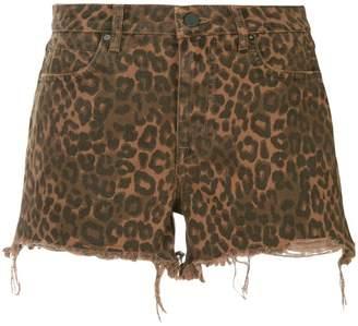 Alexander Wang leopard print shorts