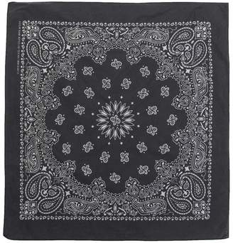 DSTLD Cotton Paisley Bandana in Black