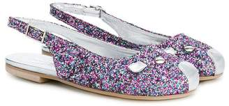 Little Marc Jacobs sequin mouse ballerinas