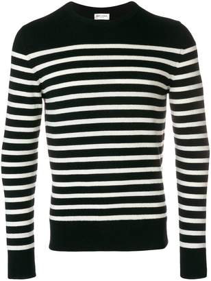 Saint Laurent slim-fit striped jumper
