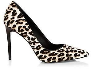 Alice + Olivia Women's Creda Leopard-Print Calf Hair Pumps