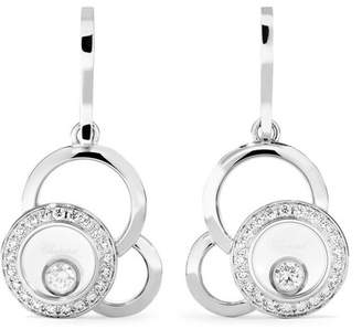 Chopard Happy Dreams 18-karat White Gold Diamond Earrings