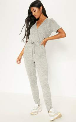 PrettyLittleThing Stone Knitted Jumpsuit