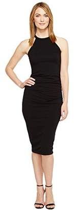 Michael Stars Women's Cotton Lycra Halter Midi Dress