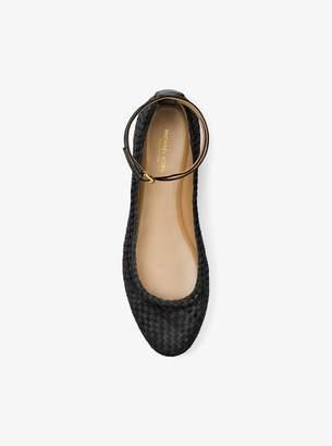 Michael Kors Dunbar Woven Leather Flat