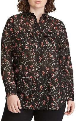 Lauren Ralph Lauren Plus Floral Button-Down Shirt
