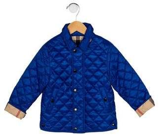 Burberry Boys' Quilted Zip-Up Jacket