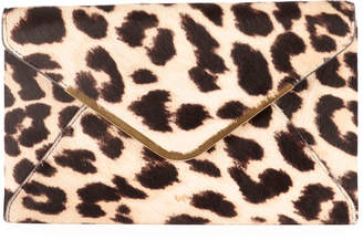Anya Hindmarch Postbox Leopard Envelope Clutch Bag