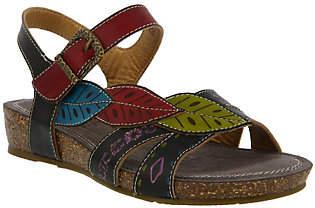 Spring Step L'Artiste Leather Wedge Sandals - Kukonda