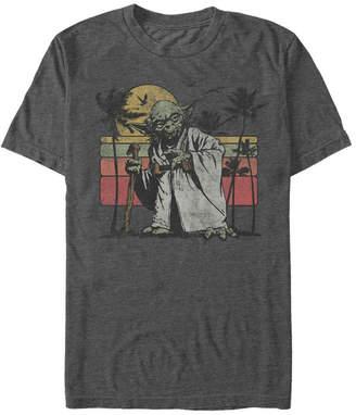 Star Wars Men Classic Yoda Island Short Sleeve T-Shirt