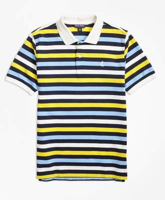 Brooks Brothers Boys Short-Sleeve Bold Stripe Pique Polo Shirt