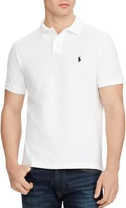 Polo Ralph Lauren Cotton Mesh Custom Slim Fit Polo Shirt