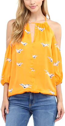 Glam Cold-Shoulder Blouse