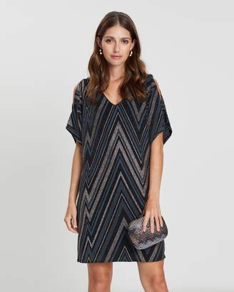 Dorothy Perkins Zig-Zag Cold Shoulder Dress