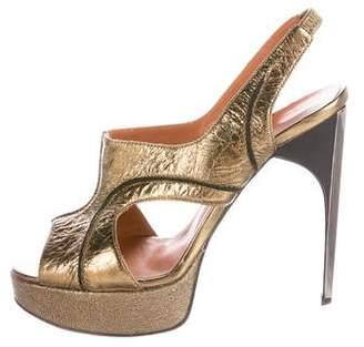 Lanvin Metallic Slingback Sandals