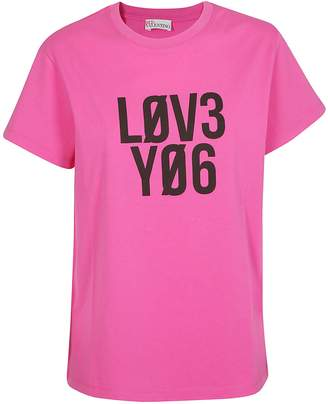 RED Valentino Love You Print T-shirt