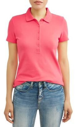 50437b33e69 Time   Tru Women s Essential Short Sleeve Polo Shirt