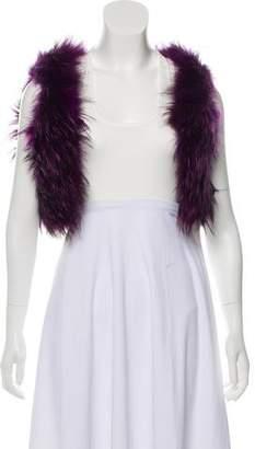 Anna Sui Racoon Fur Shrug