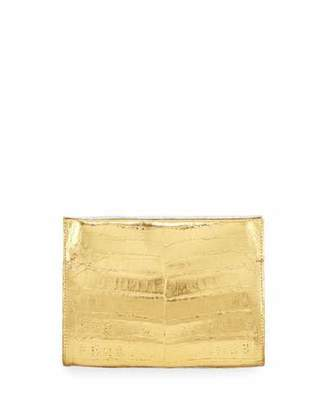 Nancy Gonzalez Crocodile Small Clutch Bag, Silver/Gold