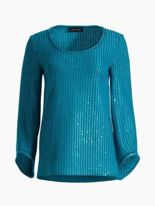 St. John Lurex Rib Knit Sweater