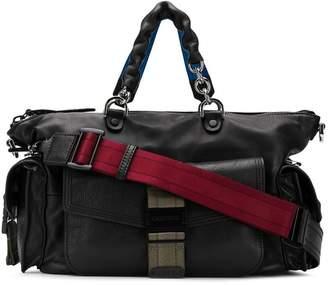 Diesel leather bowling handbag