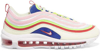 Nike Air Max 97 Se Leather And Mesh Sneakers - White