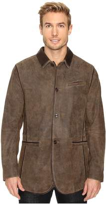 Scully Manor Mansion Goatskin Leather Elbow Patch Blazer Men's Jacket