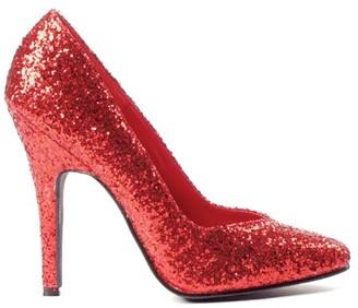 Ellie Women's Red Glitter Pumps