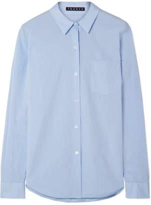Theory Perfect Cotton Shirt - Light blue