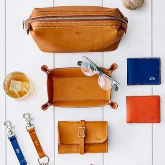 Baseball Leather Travel Pouch