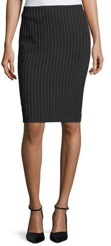 Armani Collezioni Pinstriped Stretch-Wool Skirt