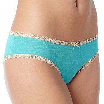 Hiphugger Panty, Ambrielle® Modal with Lace Trim
