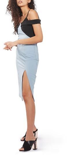 TopshopWomen's Topshop Colorblock Midi Dress