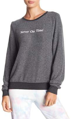 Wildfox Couture Never On Time Baggy Fleece Sweater