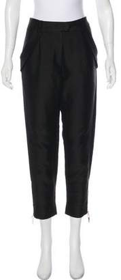 Thomas Wylde High-Rise Crop Pants