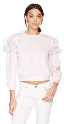 Rebecca Taylor Women's Ruffle Sweatshirt
