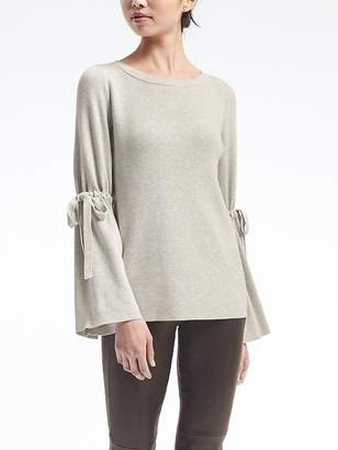 Fluted Tie-Sleeve Pullover $98 thestylecure.com