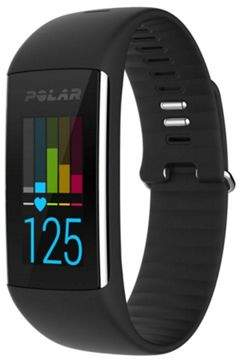 Polar A360 Exercise Fitness Tracker W/ Wrist Based Heart Rate Monitor - Black, M