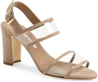 Manolo Blahnik Khan Two Strap Sandal