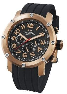 TW Steel Grandeur Tech Rose-Gold Plated Stainless Steel Chronograph Watch
