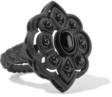 GucciGucci - Resin And Crystal Ring - Black