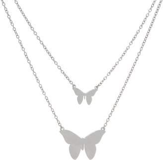 Jennifer Zeuner Jewelry Jz By JZ by Sterling or 18K Plated Butterfly Necklace
