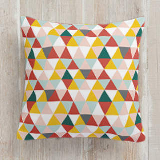 Seven Triangles Square Pillow