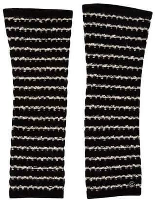 Chanel Knit Arm Warmers Black Knit Arm Warmers