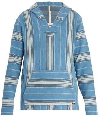 Faherty Terry Baja striped cotton poncho