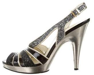 Miu Miu Sequin Slingback Sandals