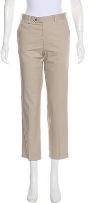 Michael Kors Mid-Rise Straight-Leg Pants