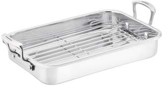 Scanpan 42cm Deluxe Stainless Steel Roasting Pan With Rack